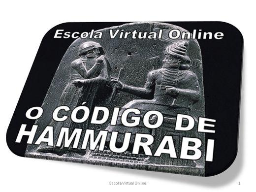 Curso Online de O CÓDIGO DE HAMMURABI