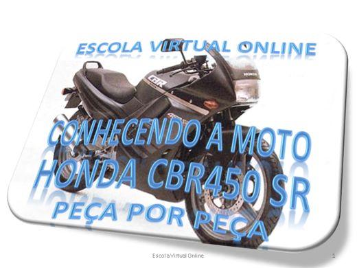 Curso Online de CONHECENDO MOTO HONDA CBR450 SR PEÇA POR PEÇA