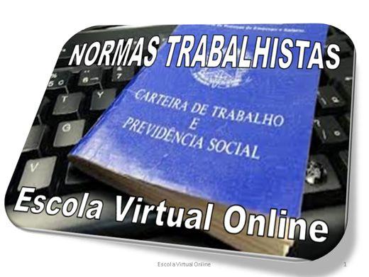 Curso Online de NORMAS TRABALHISTAS