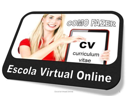 Curso Online de COMO FAZER UM CURRICULUM VITAE