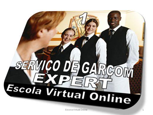 Curso Online de SERVIÇO DE GARÇOM - EXPERT 1