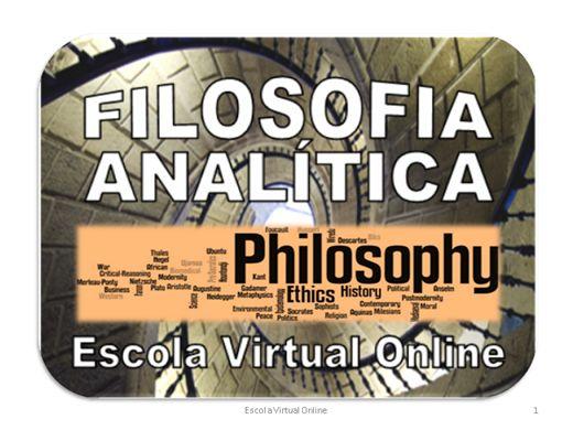 Curso Online de FILOSOFIA ANALÍTICA - INTRODUÇÃO