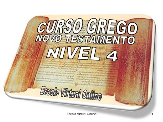 Curso Online de CURSO GREGO DO NOVO TESTAMENTO - NÍVEL 4