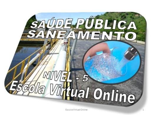 Curso Online de SAÚDE PÚBLICA - SANEAMENTO - NÍVEL 5