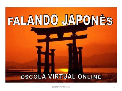 Curso Online de FALANDO JAPONES - Para Principiantes