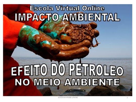 Curso Online de IMPACTO AMBIENTAL - EFEITO DO PETROLEO NO MEIO AMBIENTE
