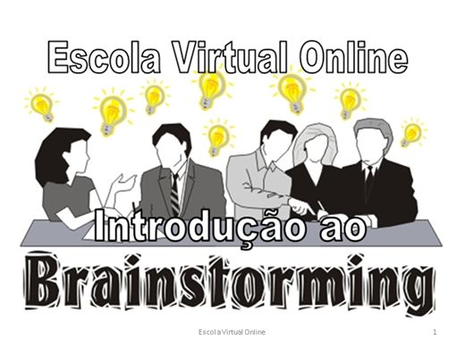 Curso Online de Curso Introdução ao Brainstorming
