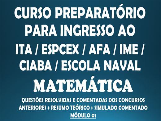 Curso Online de Preparatório ao ITA - AFA - ESPCEX - ESCOLA NAVAL - CIABA