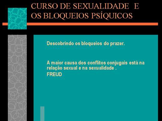 Curso Online de SEXUALIDADE E OS BLOQUEIOS PSÍQUICOS