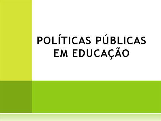 Curso Online de POLÍTICAS PÚBLICAS EM EDUCAÇÃO
