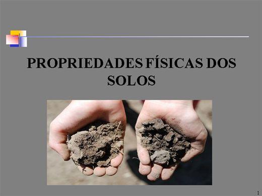 Curso Online de PROPRIEDADES FÍSICAS DOS SOLOS