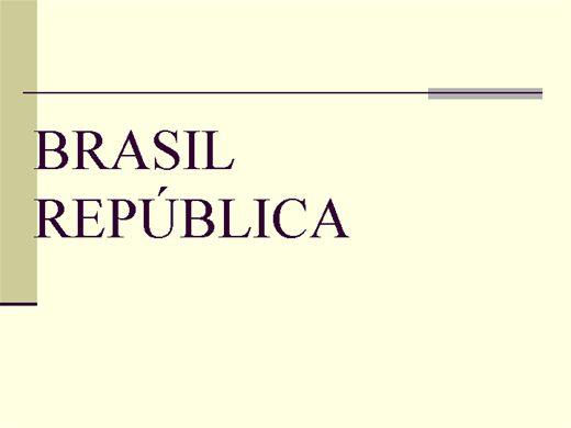 Curso Online de História: O Brasil República