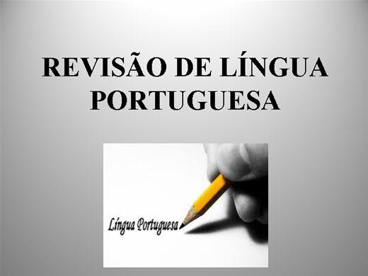 Curso Online de REVISÃO DA LÍNGUA PORTUGUESA