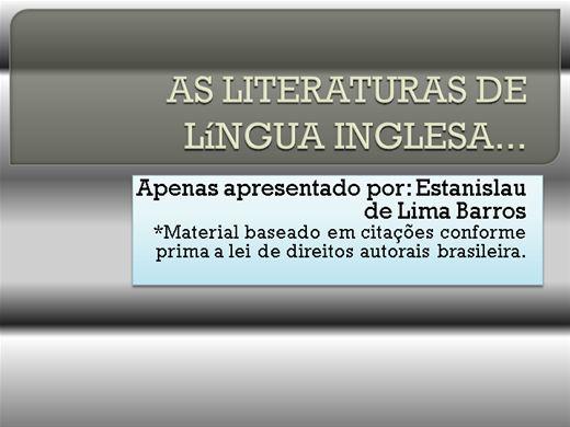 Curso Online de AS LITERATURAS DE LíNGUA INGLESA