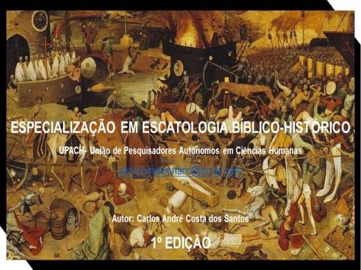 Curso Online de ESPECIALIZAÇÃO EM ESCATOLOGIA BÍBLICO-HISTÓRICO