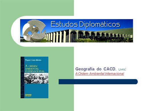 Curso Online de A Ordem Ambiental Internacional
