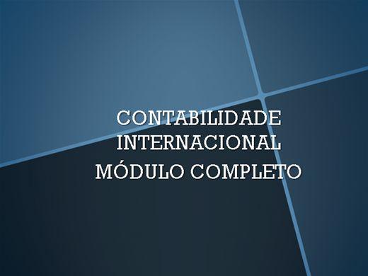 Curso Online de CONTABILIDADE INTERNACIONAL CURSO COMPLETO