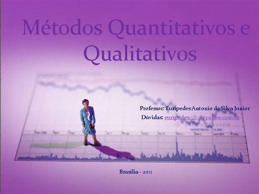 Curso Online de Métodos Quantitativos e Qualitativos
