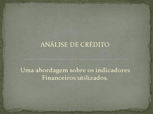 Curso Online de Análise de Crédito