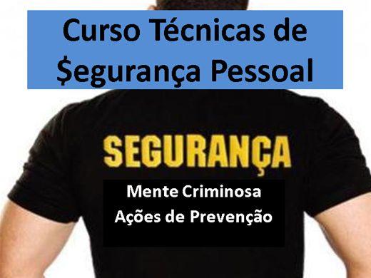 Curso Online de Curso Técnicas de Segurança Pessoal