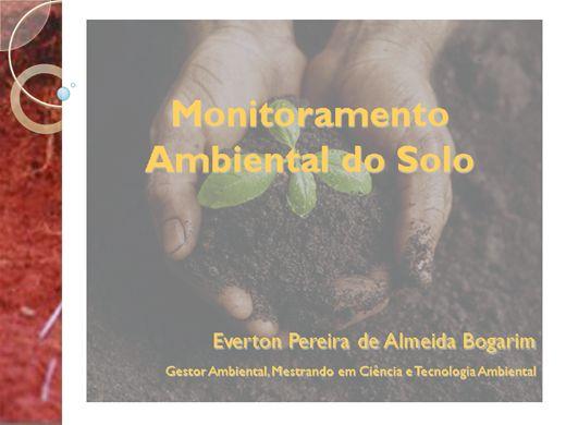 Curso Online de Monitoramento Ambiental do Solo