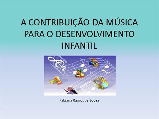 Curso Online de A música na educação Infantil- contribuições para o desenvolvimento.