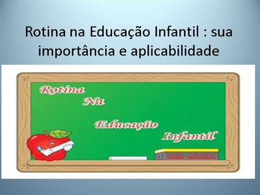 Curso Online de Rotina e Cotidiano na Educação Infantil