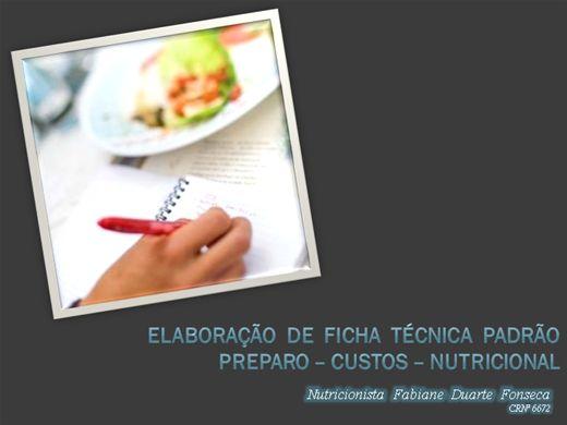 Curso Online de Elaboração de Ficha Técnica Padrão