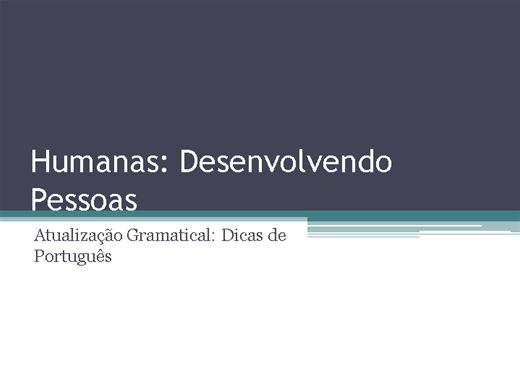 Curso Online de Atualização Gramatical: Dicas de Português