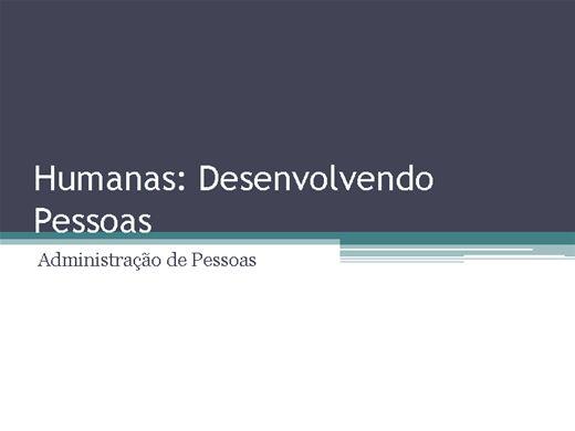 Curso Online de Humanas Desenvolvendo Pessoas: Administração de Pessoas