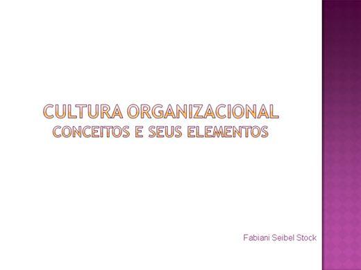 Curso Online de Cultura Organizacional e seus elementos