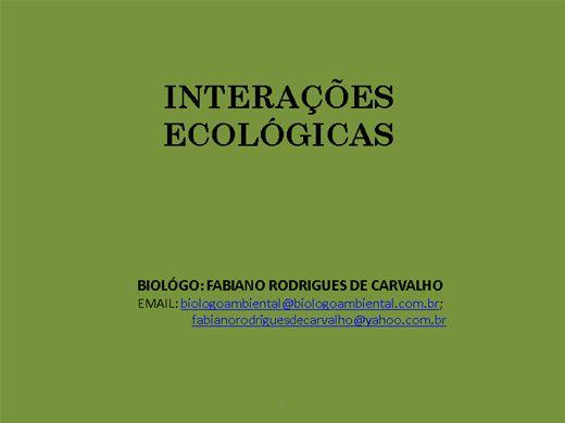 Curso Online de INTERAÇÕES ECOLOGICAS