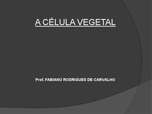 Curso Online de CELULA VEGETAL
