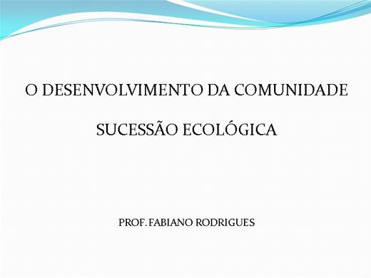 Curso Online de SUCESSÃO ECOLÓGICA