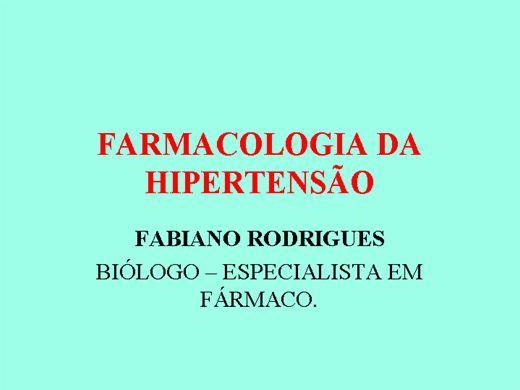 Curso Online de FARMACOLOGIA DA HIPERTENSÃO