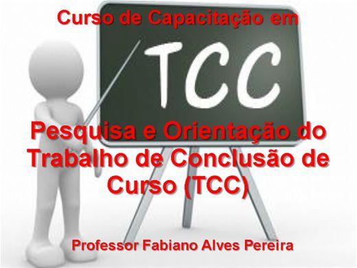 Curso Online de Capacitação em   Pesquisa e Orientação do Trabalho de Conclusão de Curso (TCC)