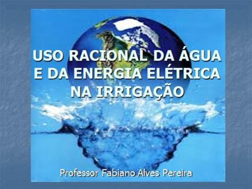 Curso Online de USO RACIONAL DA ÁGUA E DA ENERGIA ELÉTRICA NA IRRIGAÇÃO