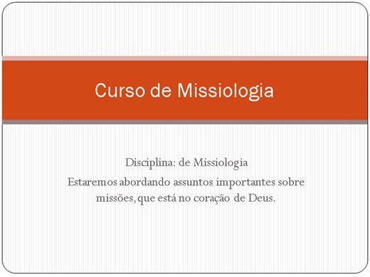 Curso Online de Missiologia