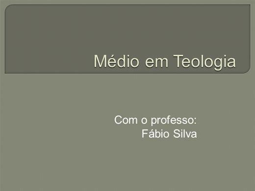 Curso Online de Médio em Teologia