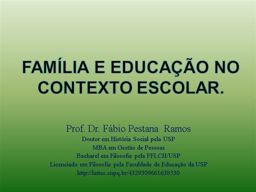 Curso Online de Família e Educação no contexto Escolar.