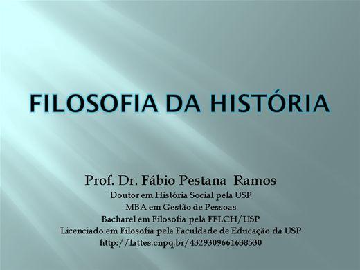 Curso Online de Filosofia da História