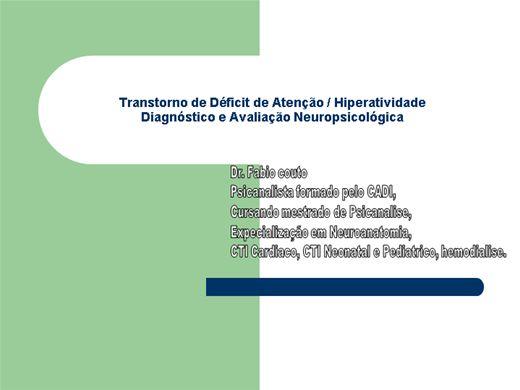 Curso Online de TDAH E NEUROPSICOLOGIA