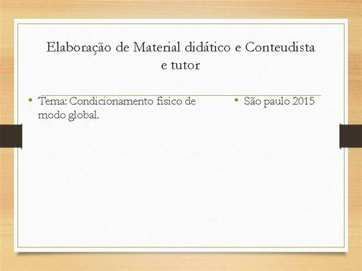 Curso Online de CONDICIONAMENTO FISICO DE MODO GERAL