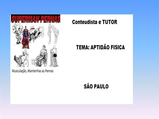 Curso Online de APTIDÃO FISICA