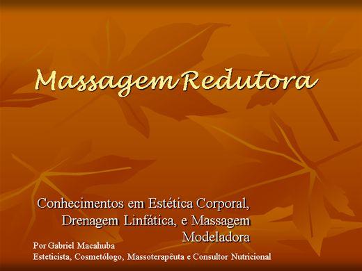 Curso Online de Massagem Modeladora / Redutora