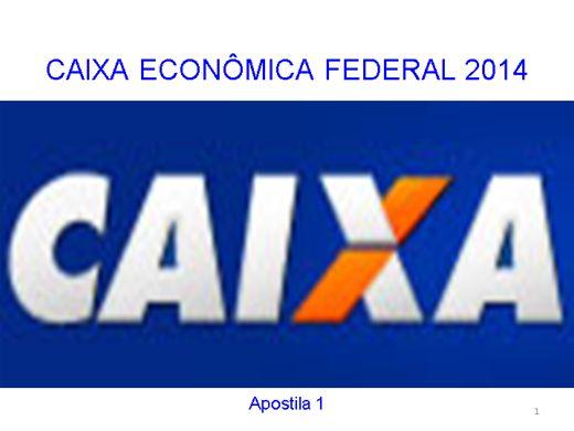 Curso caixa economica federal 2014