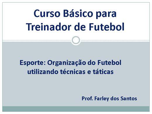 Curso Online de Treinamento no Futebol
