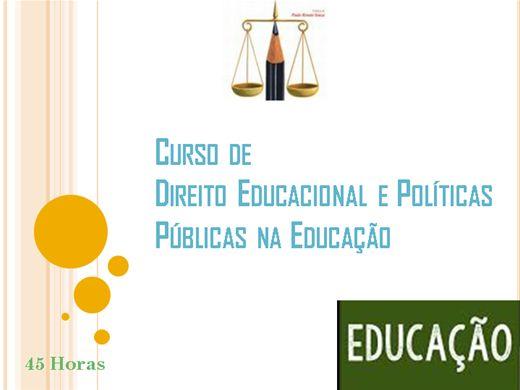Curso Online de Direito Educacional e Políticas Públicas na Educação