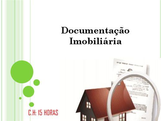 Curso Online de Documentação Imobiliária