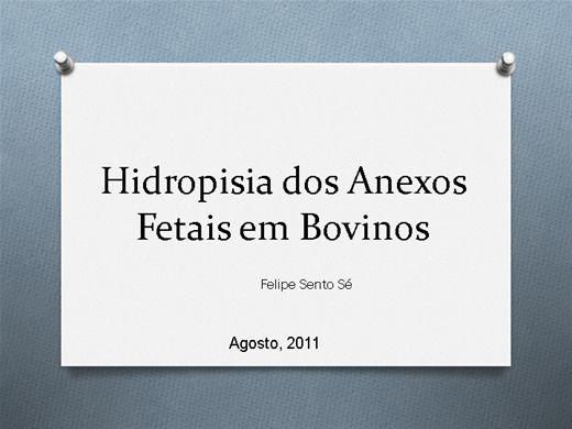 Curso Online de Hidropsia dos Anexos Fetais